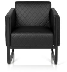 Hjh OFFICE Lounge Sofa ARUBA BLACK mit Armlehnen