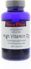 Nova Vitae High vitamine D3 3000IU 75 mcg 180 Capsules