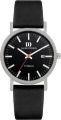 Zilveren Danish Design watches titanium herenhorloge Rhine Black Black Date Large IQ13Q1273
