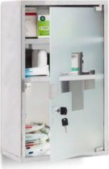 Relaxdays Medizinschrank EMERGENCY Edelstahl XL