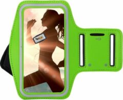 Oppo Reno 3 Sportband hoes Sport armband hoesje Hardloopband hoesje Groen Pearlycase