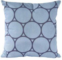 Nielsen Design Sierkussen decoratie kussen Circle 45 x 45 cm blauw