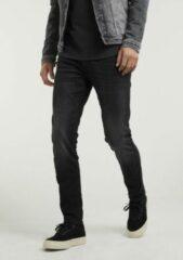 Zwarte CHASIN' Crown Rix straight fit jeans met gekleurde wassing