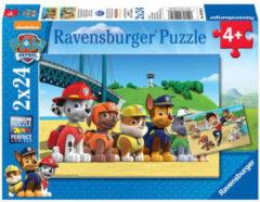 Ravensburger puzzel Paw Patrol Dappere honden - Twee puzzels - 24 stukjes - kinderpuzzel
