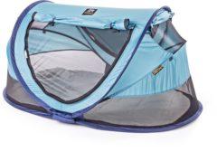 Blauwe DERYAN Reisbedje/Tent Travel Cot Peuter Luxe Ocean