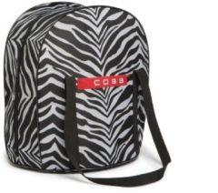 "Zwarte Trendyard Cobb Tas XL ""Zebra"" Print"