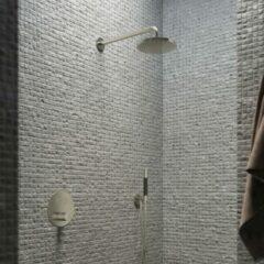Hotbath Cobber IBS 22 inbouw doucheset - chroom - met staafhanddouche - 20cm hoofddouche - met wandarm - wandsteun met uitlaat
