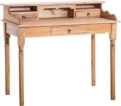 CLP Landhaus-Schreibtisch GENESIS, mit 3 Schubladen und großer Arbeitsfläche, 115 x 56 cm, Höhe 98 cm, FARBWAHL, Landhausstil