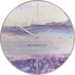 Paarse Riverdale Brixton - Wandklok - 30cm - metallic
