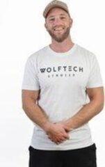 Wolftech Gymwear Sportshirt Heren - Wit - L - Regular Fit - Sportkleding Heren