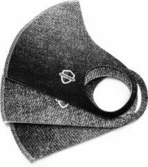 Licht-grijze SafeSave denim jeans kinderen modieuze mondkapje- Herbruikbaar en wasbaar design mondkapjes - 100% neopreen waterdicht materiaal- niet medisch mondmasker-Ov/school verplicht unisex kinderen/jongeren 9 tot 14 jaar gezichtsmasker-3 stuks verpak