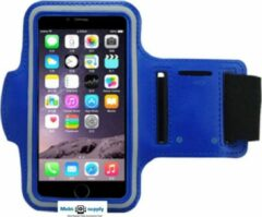 Mobtsupply Blauw Sportarmband(5.5 tot 6.0 Inch) inclusief Sleutelhouder + Kaarthouder