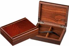 Philos houten opberg box voor speelkaarten, magneetsluiting