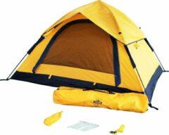 Lumaland - Pop Up tent - werptent 3 personen - 210 x 190 x 110 cm - Verkrijgbaar in verschillende kleuren - Geel