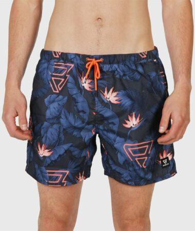 Afbeelding van Blauwe Brunotti Tasker Flower AO SS20 Mens Shorts