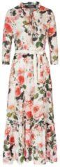 Rosa Bezauberndes Maxikleid FALMA mit stilvollem Blumen-Dessin Nicowa PINK / ROSE / GREEN