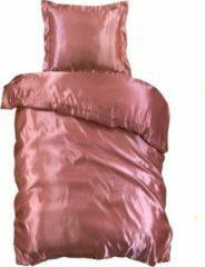 Beauty Silk - Dekbedovertrek Satijn - Flamingo Roze - 140x200/220