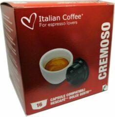 Italian Coffee - Cremoso Koffiecups / Extra Romig - 16x stuks - Dolce Gusto compatibel