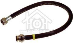 Grijze Easyfiks Gasslang Rubber flexibel voor los staande apparaten Gastec 80 cm met koppelingen SM519
