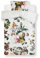 Gebroken-witte Essenza Fleur dekbedovertrekset van katoensatijn 215TC - inlcusief kussenslopen