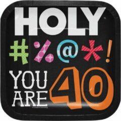 Creative Converting - Holy Bleep 40 Dessert Borden - 8 stuks