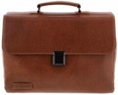 Bruine Laptoptassen Plevier Lederen Laptoptas 15.6 inch Brown 853-2
