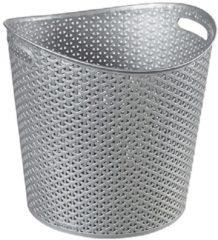 Grijze Curver My Style - Mand - Zilver - 30 L - 39x39xh37cm - (set van 6) En Yourkitchen E-kookboek - Heerlijke Smulrecepten