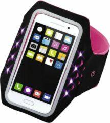 """Roze Hama Sport-armband """"Running"""" voor smartphones, maat XXL, met led, pink"""