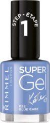 Blauwe Rimmel London Rimmel - SuperGel Nailpolish by Kate - Blue Babe - Blue