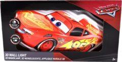 Rode Disney Cars 3D wandlamp