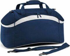 Marineblauwe Bagbase Teamwear sporttas, Kleur French Navy/ White