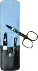 Sonstiges PFEILRING Pfeilring Maniküretui, Nappaleder schwarz, Futter hellblau, 3-teilige Bestückung