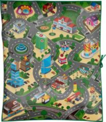 Groene Eddy Toys speelmat - verkeer - 120 x 100 x 0,3 cm - eva-schuim