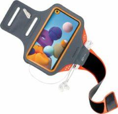 Oranje Mobiparts Comfort Fit Sport Armband Samsung Galaxy A21s (2020) Neon Orange