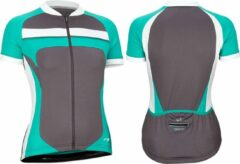 Avento Wielrenshirt - Dames - Antraciet/Wit/Turquoise - 40