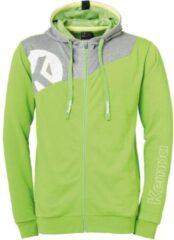 Kempa Core 2.0 Hood Jacket Kind Hoop Groen-Donker Grijs Melange Maat 128