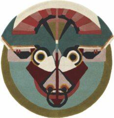 Ted Baker - Zodiac Taurus 161205 Vloerkleed - 100 cm rond - Rond - Laagpolig, Rond Tapijt - Modern - Meerkleurig