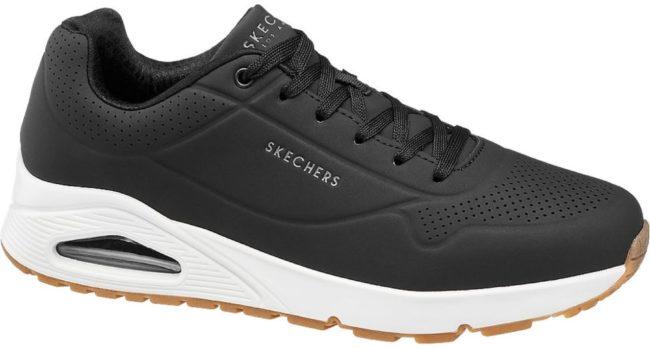 Afbeelding van Witte Skechers Uno Stand On Air Heren Sneakers - Zwart - Maat 41