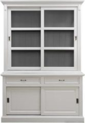HSM Collection Buffetkast Venice - 150 cm - wit/donkergrijs