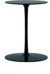 MDF Italia Flow Low Tisch - glanz schwarz - Ø 44 cm, hoch