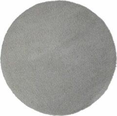 Flooo Rond vloerkleed - Tapijten Woonkamer - Hoogpolig - Sunset Grey - Grijs - 133 cm