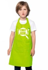 Bellatio Decorations Chef kok schort lime groen jongens en meisjes - Keukenschort kind
