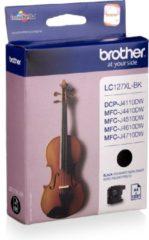 Zwarte Brother LC-127XLBK - Inktcartridge / Zwart / Hoge Capaciteit