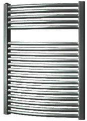 Antraciet-grijze Plieger Onda designradiator horizontaal gebogen 764x585mm 528W antraciet metallic 7252481