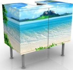 PPS. Imaging Waschbeckenunterschrank - Traumurlaub - Badschrank Blau