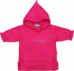 Roze Swoop - badjasje in badstof - met kap - rose