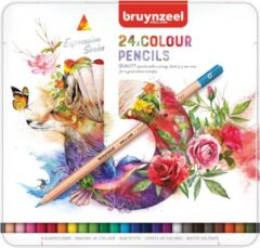 BRUYNZEEL Kleurpotloden in blik Expression: 24 stuks (7705M2