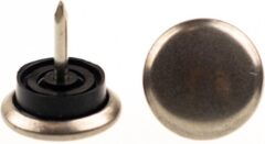 Verlofix Glijnagel Diam. 30mm Staal Rubber Zilvergrijs 4stuks