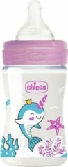 Chicco Zuigfles Glas Transparant/roze 150 Ml (0m+)