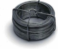 Merkloos / Sans marque 1x stuks binddraad / binddraden staal verzinkt 0,7 mm x 100 m op rol - zilver - dik ijzerdraad hobbymateriaal